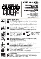 Crafted Cider Instructions