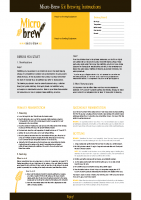 Micro Brew Instructions